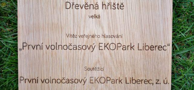 EKOPark přivezl do ^Liberce dřevěný diplom za 1. místo